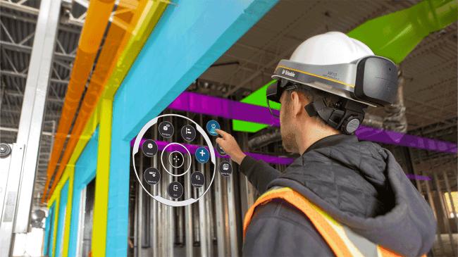 Trimble Connect for AR/VRを用いた直感的な操作画面