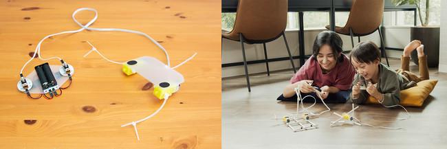 左)ユカイな生きものロボットキット/右)ユカイなぼうけんクラフトキット