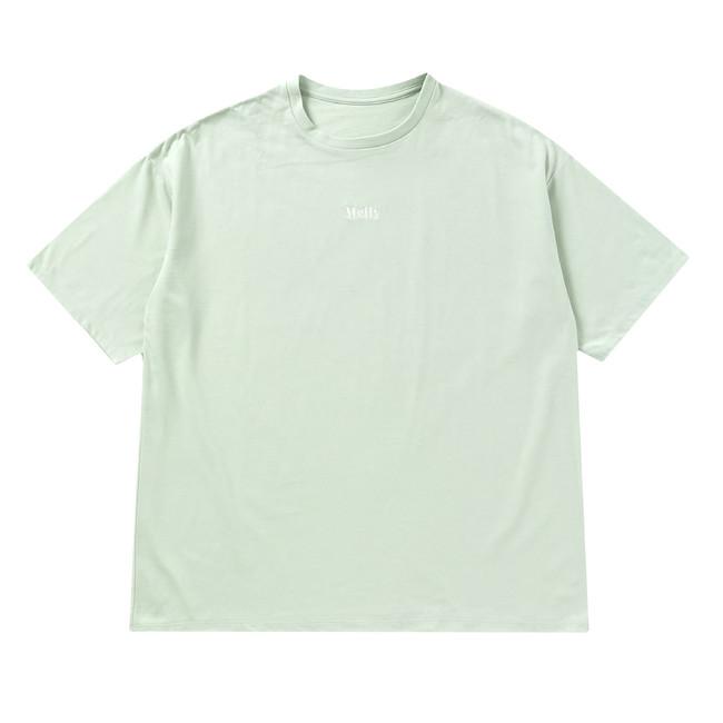 MELLY CENTER LOGO T-SHIRT(GREEN)