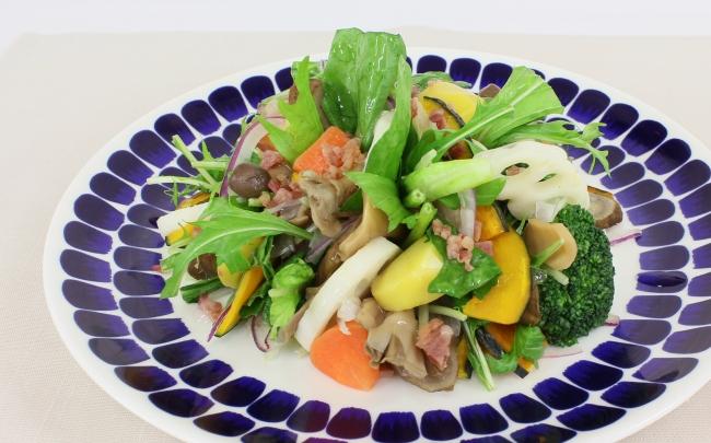 秋野菜のグリーンサラダ