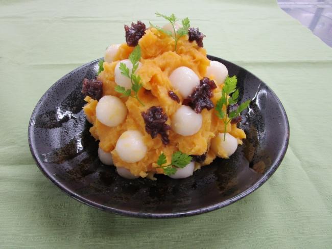 安納芋と白玉の和フルーツサラダ