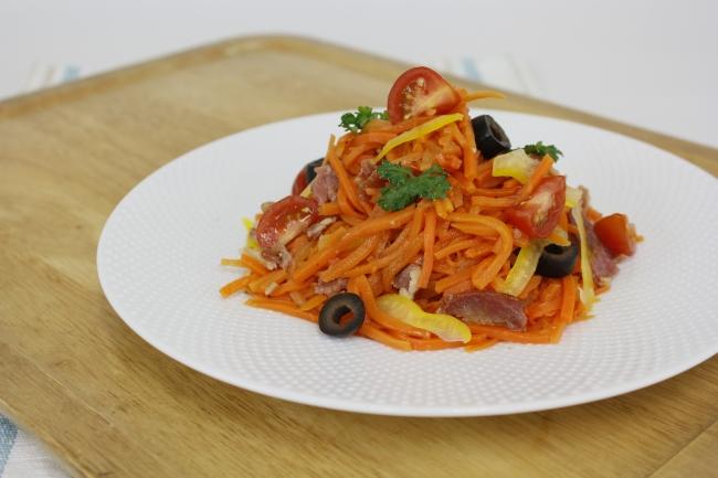 人参のペペロンチーノ風サラダ