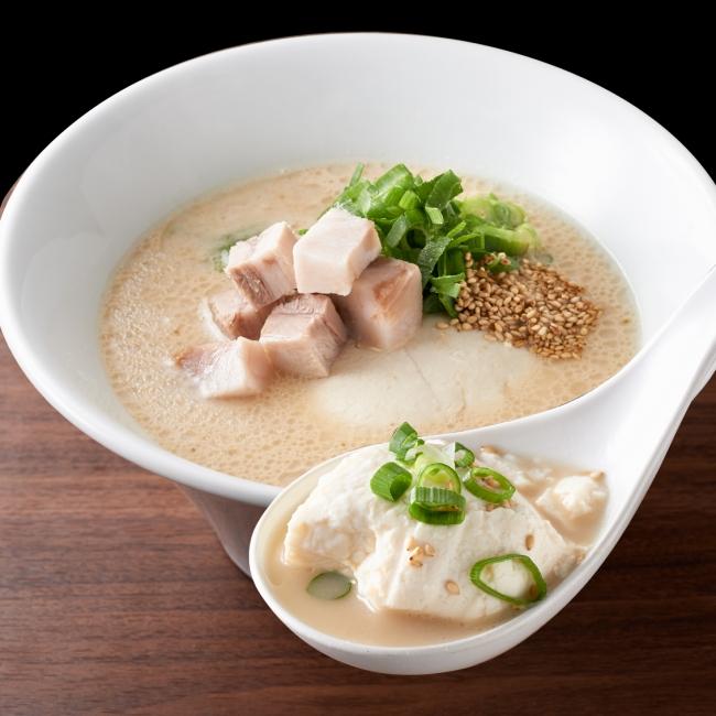 一風堂 白丸とんこつ豆腐(790円)