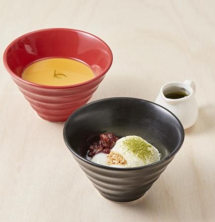 左:アールグレイプリン 右:抹茶アフォガート