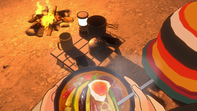 ▲ なでしこお手製の美味しいキャンプごはん