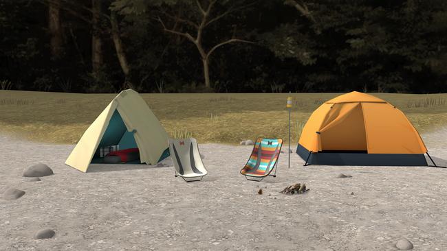 ▲ 二人は本栖湖と麓キャンプ場で朝まで一緒に過ごします