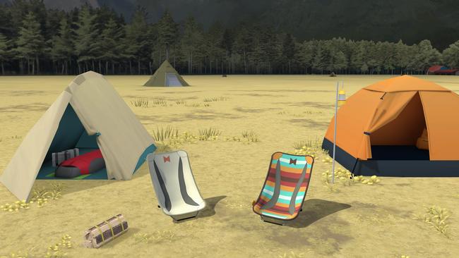 ▲ 二人は麓キャンプ場で朝まで一緒に過ごします