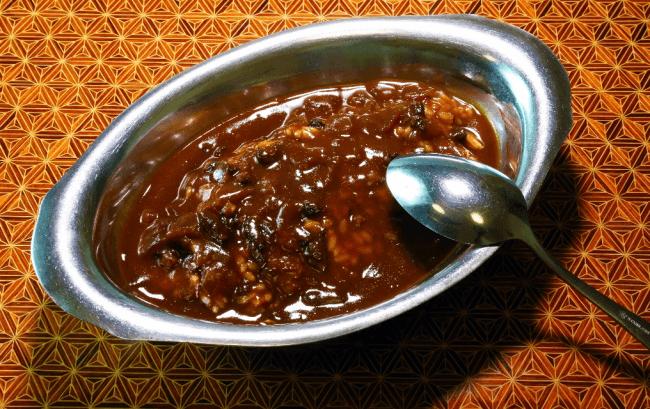 遺されたレシピを元に再現されたハヤシライス。昭和を思わせる美味。