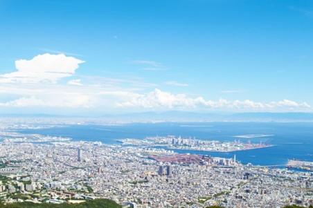 摩耶山掬星台展望台からの眺め