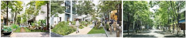 """社会実験「Marunouchi Street Park 2021 Summer」実施/「つながろう、夏のストリート」をテーマに""""人""""中心の道路を目指した空間が出現"""