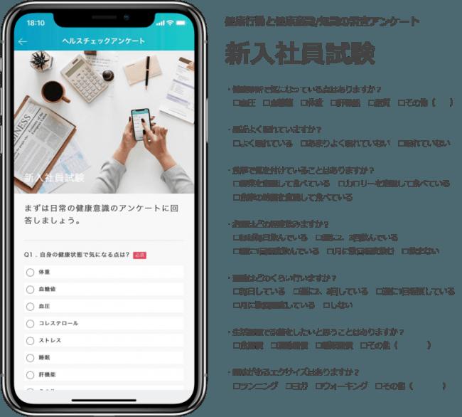 アプリ上で配信するアンケートのイメージ
