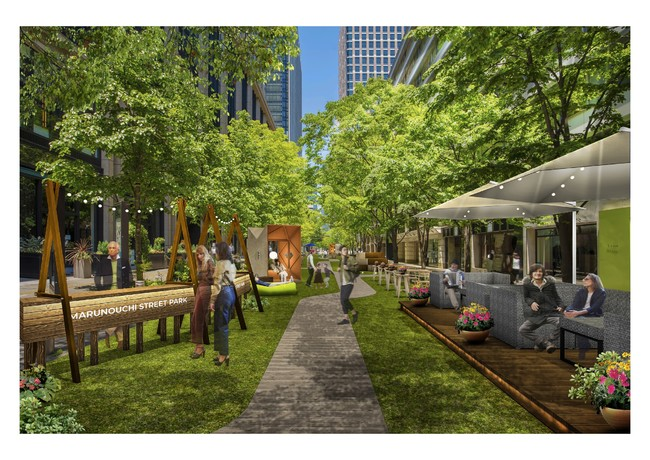 「Marunouchi Street Park 2021 Spring」イメージパース昼