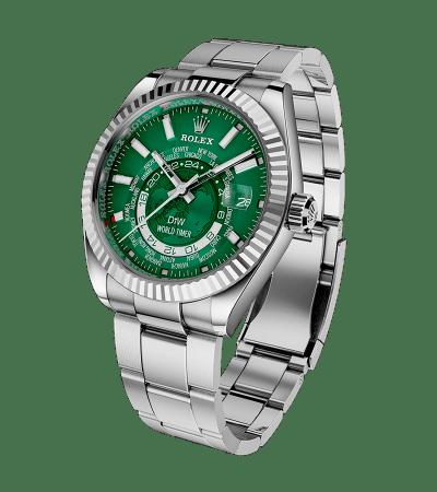 WORLD TIMER Steel Green 480万円(税別)