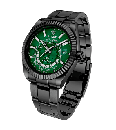 WORLD TIMER Black DLC Green 520万円(税別)