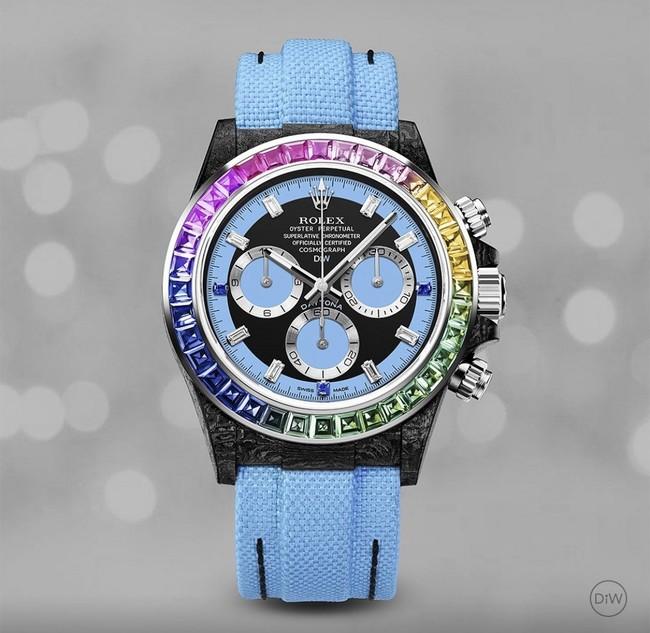 CARBON ROLEX DAYTONA RAINBOW BLUE 950万円(税別)