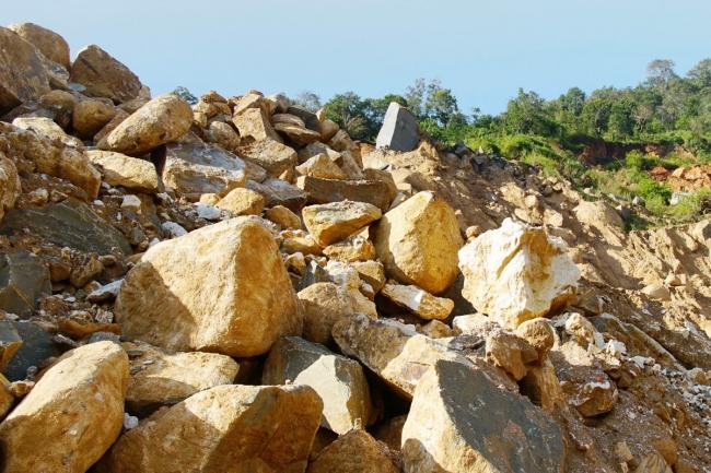 モゴックにある、ルビー鉱山
