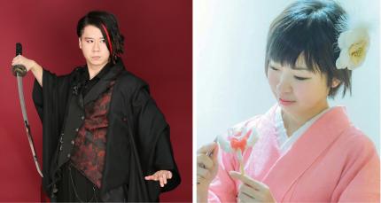 (左)マジシャン Piece(ピース)  (右)飴細工アーティスト 蜜咲ばぅ