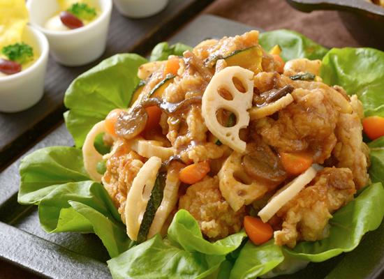 鶏肉の野菜たっぷりザンタレ