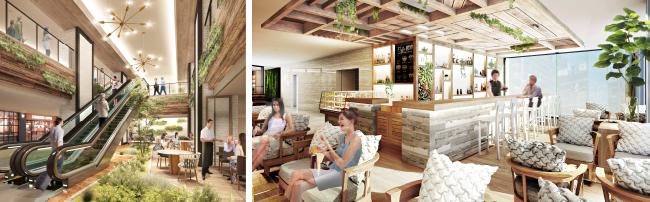 地下レストランフロア イメージパース /カフェ&バー イメージパース