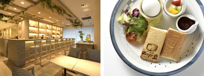 Cafe&Bar CROSS POINT / むつか堂食パンを使った軽食プレート