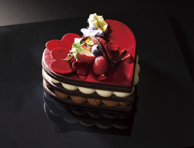 ハートの日 チョコレートケーキ
