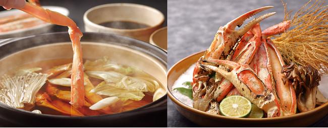 ※1、2月ライブキッチン「カニすき」「焼きガニ」のイメージ