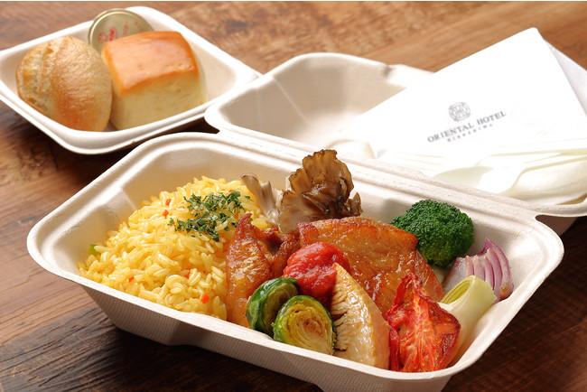 赤鶏のポワレと彩り野菜のソテー