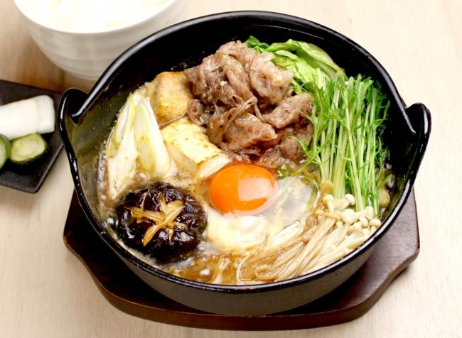 ・特選牛しゃぶの牛鍋¥900(税抜)ご飯・漬物付き ・国産牛しゃぶの牛鍋¥1,620(税抜)ご飯・漬物付き