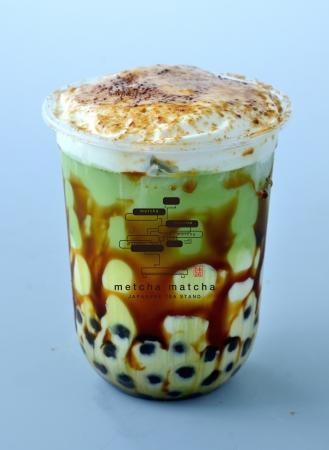焦がし黒糖タピオカ 宇治抹茶ミルク¥650(税抜)