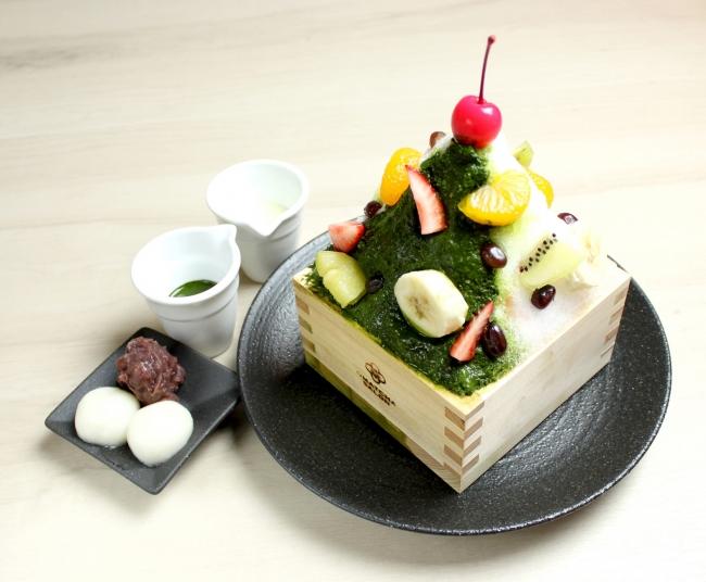 抹茶白くまミルクかき氷 ¥1,180《税抜》