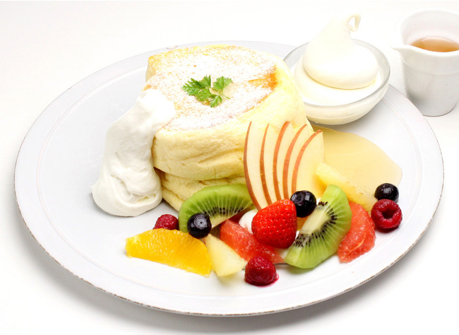 贅沢フルーツチーズ スフレパンケーキ ¥1,280