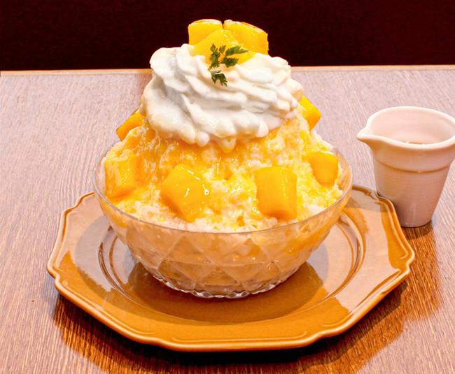 レアチーズのマンゴーかき氷¥1,300