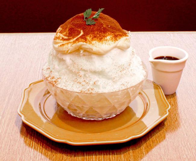 レアチーズのティラミスかき氷¥1,150