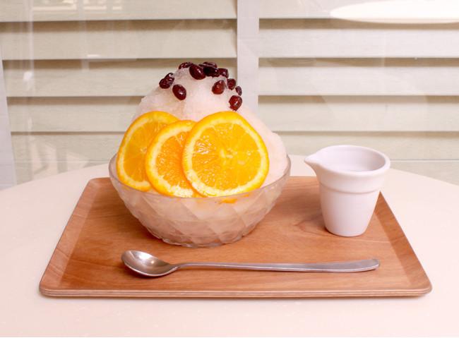 烏龍茶とオレンジ¥830