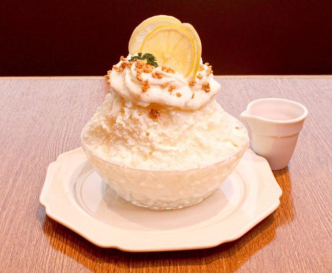 レアチーズのはちみつレモンかき氷¥1,200