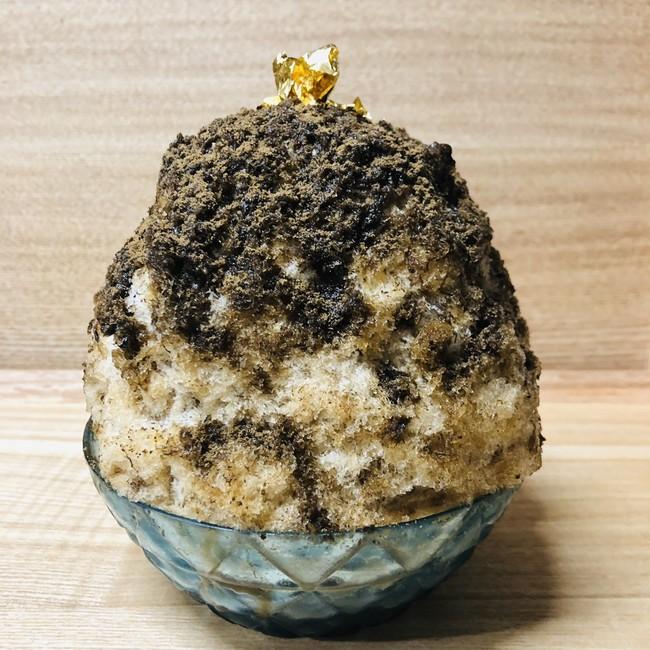 極上濃いほうじ茶かき氷《緑茶付き》¥1,300