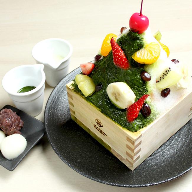 抹茶白くまミルクかき氷 《緑茶付き》¥1,300