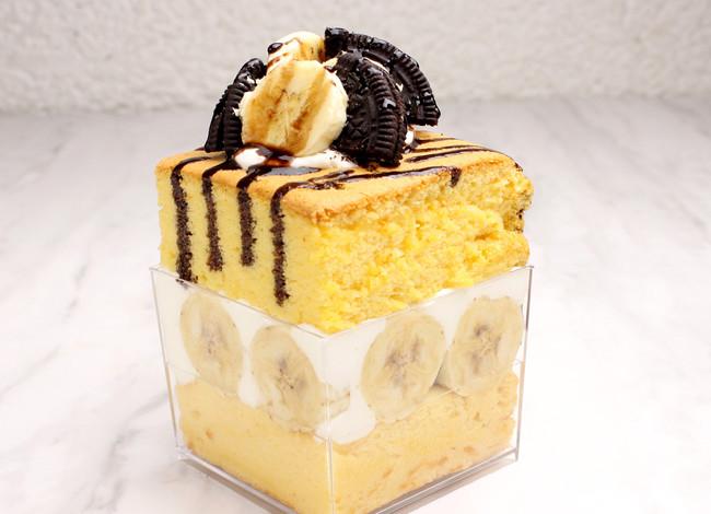 台湾カステラデラックスショートケーキ チョコバナナとオレオ¥650