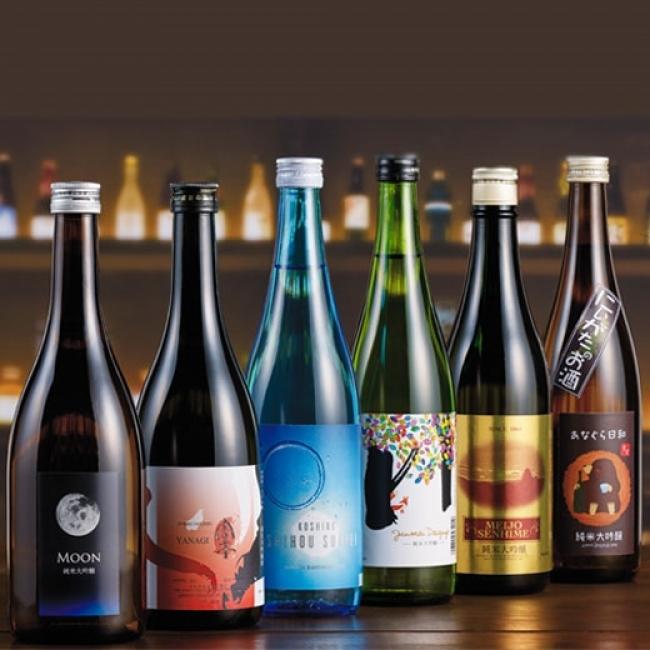 <ワイングラスで飲む純米大吟醸6蔵> 9,000円(税別)