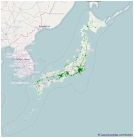 図3:2013年8月放送時の日本のバルススポット