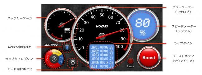 MaBeee Racing アナログパネルモード画面