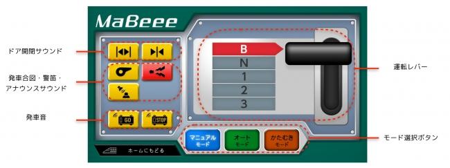 MaBeee Train マニュアルモード画面