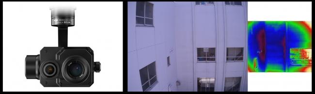 左から製品画像、可視光画像、サーマル画像