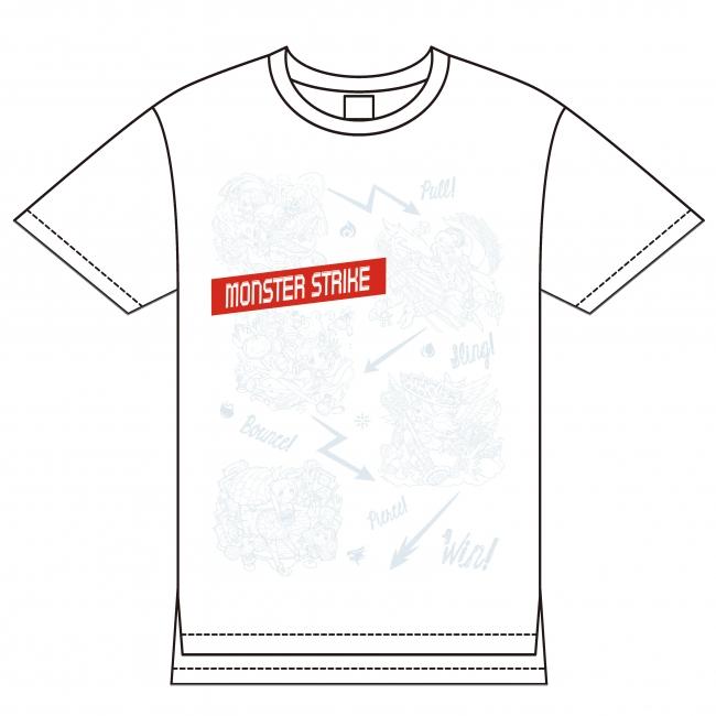 モンスターストライク ビッグTシャツ ホワイト(Lサイズのみ)¥4,300