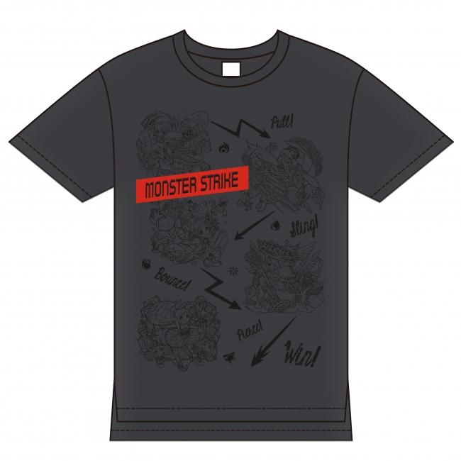 モンスターストライク ビッグTシャツ ダークグレー(Lサイズのみ) ¥4,300