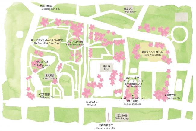 ホテル周辺 お花見MAP