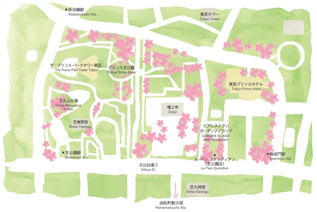 ホテル周辺桜MAP