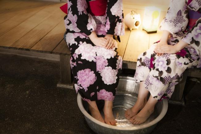 縁側で楽しめる足水 イメージ