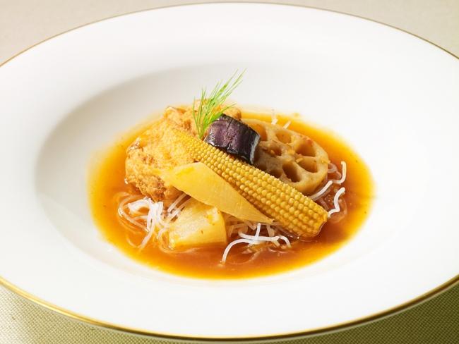 揚げ豆腐と根菜のエスニック風ベジ麻婆仕立て