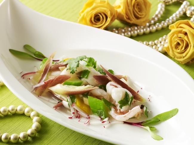 大海老と茗荷の香り野菜炒め